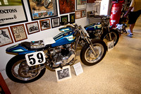 Tom White's triumph TT Racing bikes